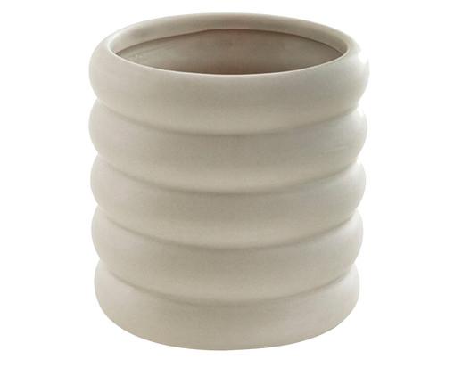Cachepot  em Cerâmica Vanessa - Cinza, Cinza | WestwingNow