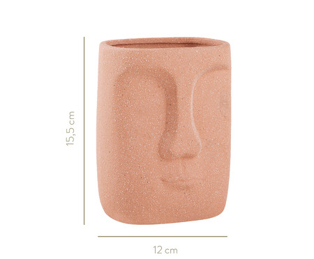 Vaso em Porcelana Moara - Terracota | WestwingNow