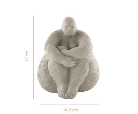 Escultura Mulher Maria - Cinza | WestwingNow