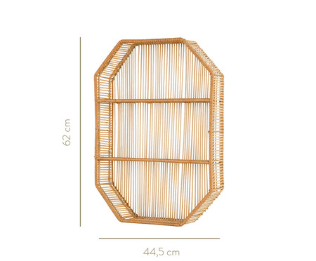 Nicho com Prateleiras em Bambu Lupe - Bege | WestwingNow