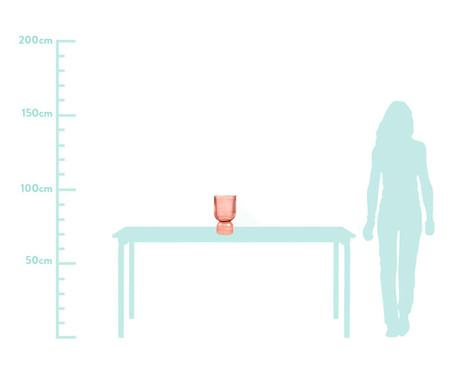 Vaso em Vidro Elof - Rosé | WestwingNow