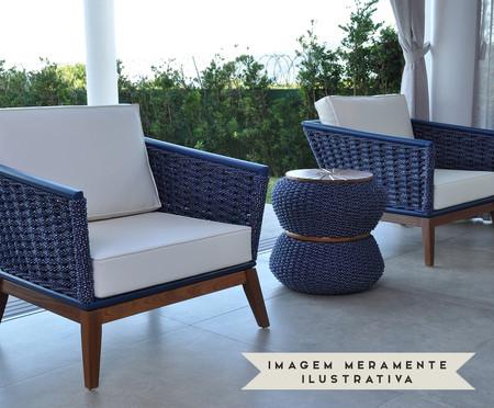 Sofá Freida - Azul Marinho | WestwingNow