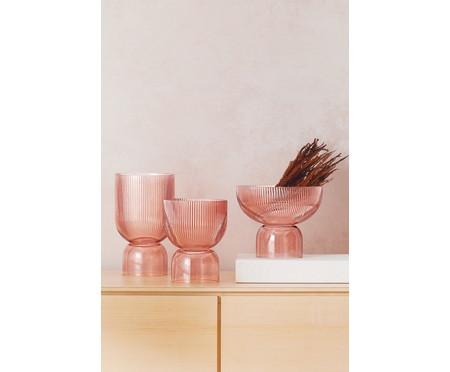 Vaso em Vidro Karina - Rosé | WestwingNow