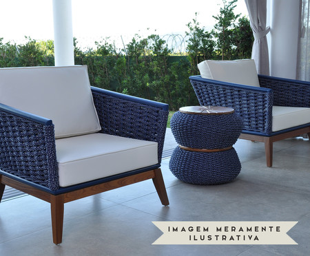 Poltrona Nápoles - Azul Marinho | WestwingNow