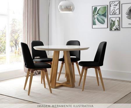 Jogo de Mesa de Jantar Redonda com Cadeiras Glafira - 04 Pessoas   WestwingNow