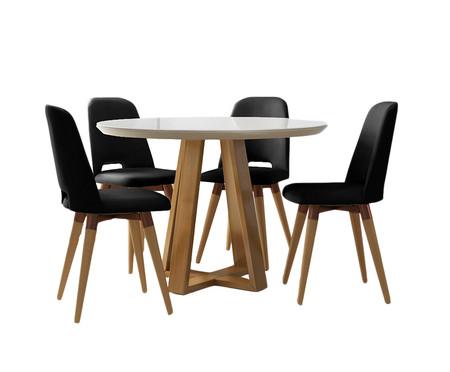 Jogo de Mesa de Jantar Redonda com Cadeiras Glafira - 04 Pessoas | WestwingNow