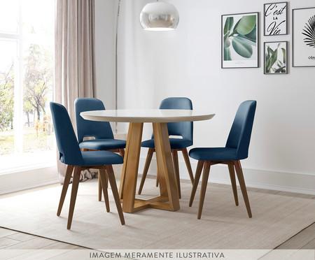 Jogo de Mesa de Jantar Redonda com Cadeiras Bennet - 04 Pessoas | WestwingNow