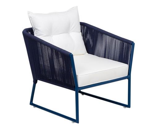 Poltrona Florença - Azul, Branco, Azul | WestwingNow