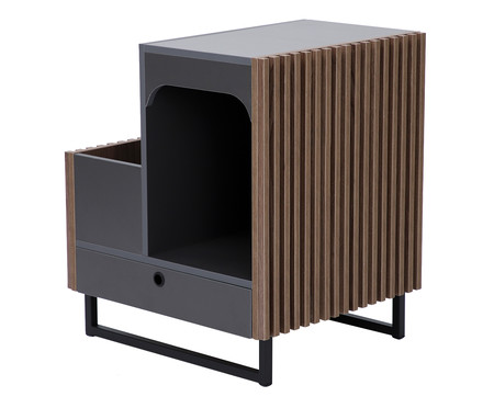 Mesa Lateral Pet Inno - Grafite | WestwingNow