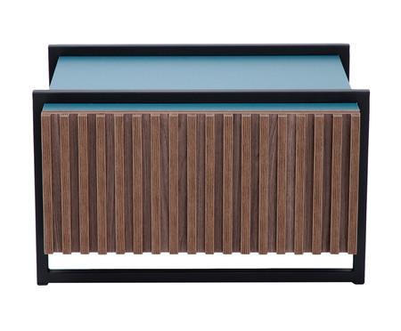 Mesa de Centro Retangular Inno - Azul Secreto | WestwingNow