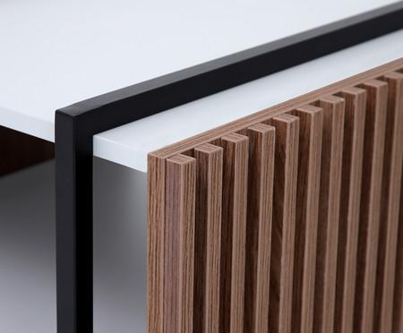 Mesa de Centro Retangular Inno - Cinza Cristal | WestwingNow