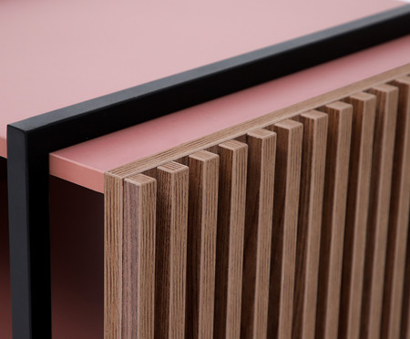 Mesa de Centro Retangular Inno - Rosa Glamour | WestwingNow