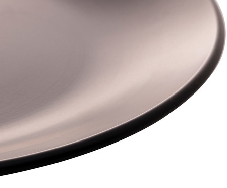 Prato Raso em Cerâmica Brigitte - Preto | WestwingNow