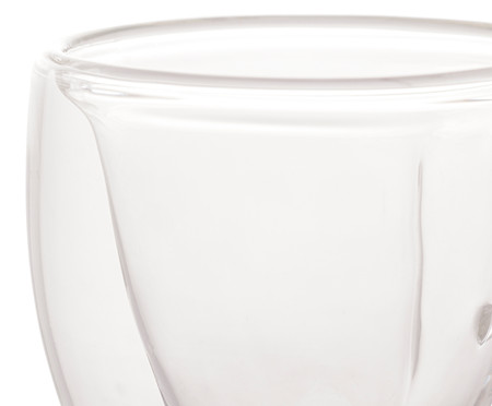 Jogo de Xícaras para Café em Vidro Geórgia - Transparente   WestwingNow