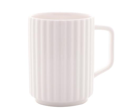 Caneca em Porcelana Hopkins - Branco, Branco   WestwingNow