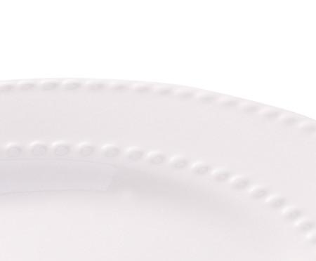 Prato para Sobremesa em Porcelana Aisha - Branco | WestwingNow