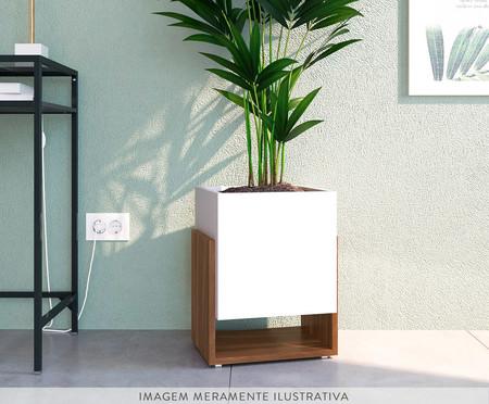 Vaso de Piso Tash - Branco e Marrom | WestwingNow