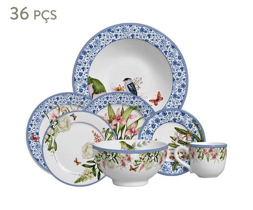 Jogo de Jantar Pot de Fleur - 06 Pessoas, Azul | WestwingNow