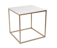 Mesa de Jantar Quadrada Mondrian - Branca e Dourada | WestwingNow