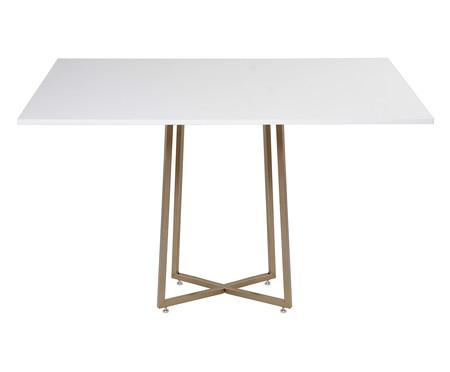 Mesa de Jantar Retangular Dalí - Branca e Dourada | WestwingNow