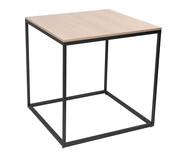 Mesa de Jantar Quadrada Mondrian - Natural e Preta | WestwingNow