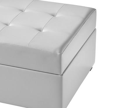 Recamier Baú Leather - Branco   WestwingNow