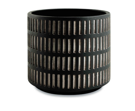 Jogo de Cachepots de Cimento Ke - Preto | WestwingNow
