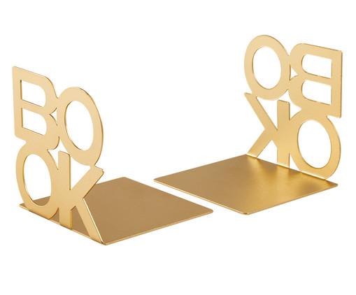 Jogo de Aparadores para Livros Orrigo - Dourado, Dourado | WestwingNow