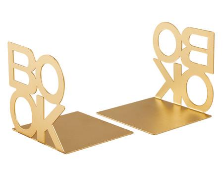 Jogo de Aparadores para Livros Orrigo - Dourado | WestwingNow