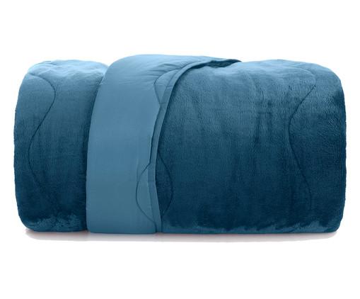 Edredom Blend Confort Sherpa - Azul Dimensão, Azul Dimensão | WestwingNow