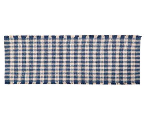 Tapete Passadeira de Cozinha Xadrez Nórdico - Azul, Azul | WestwingNow