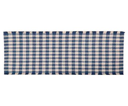 Tapete Passadeira de Cozinha Xadrez Nórdico - Azul | WestwingNow