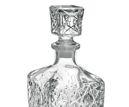 Jogo de Garrafa e Copos em Vidro Monroe - Transparente | WestwingNow
