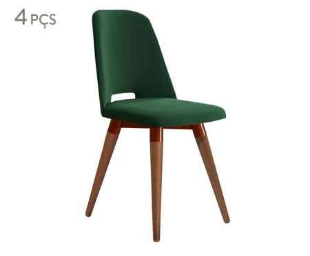 Jogo de Cadeiras Giratórias Selina - Verde   WestwingNow