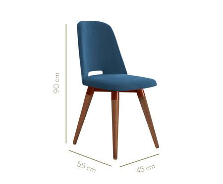Jogo de Cadeiras Giratórias Selina - Azul   WestwingNow
