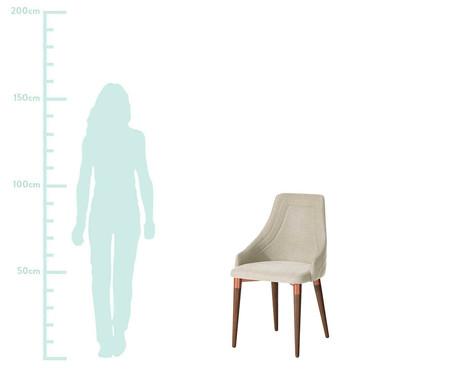 Jogo de Cadeiras em Madeira Evelyn - Bege   WestwingNow