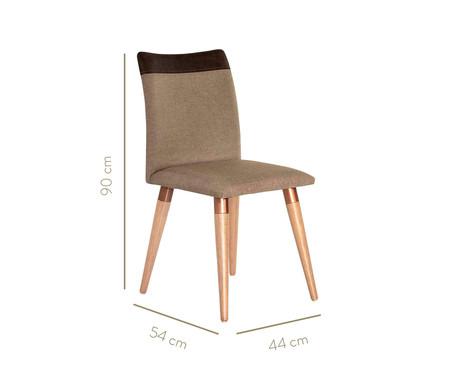 Jogo de Cadeiras em Madeira Becca - Marrom   WestwingNow