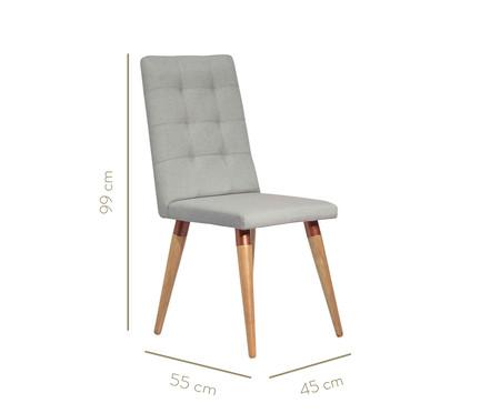 Jogo de Cadeiras de Madeira Olga - Cinza   WestwingNow