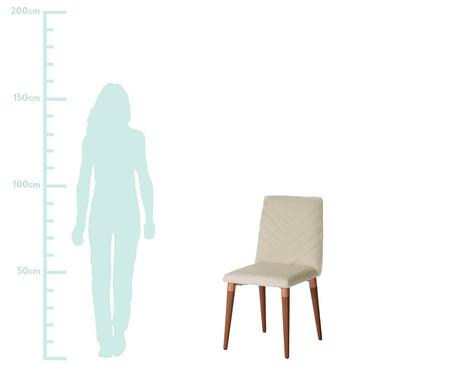 Jogo de Cadeiras de Madeira Liv - Bege   WestwingNow