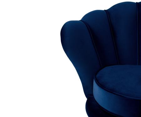 Jogo de Poltronas em Veludo Pétala - Azul Índigo | WestwingNow