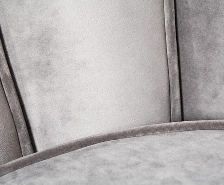 Jogo de Poltronas em Veludo Pétala - Cinza | WestwingNow