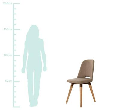 Jogo de Cadeiras Giratórias Selina - Marrom   WestwingNow