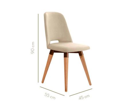 Jogo de Cadeiras Giratórias Selina - Bege   WestwingNow