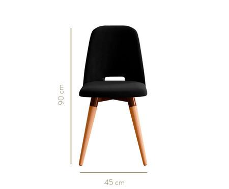 Jogo de Cadeiras Giratórias Selina - Preta   WestwingNow