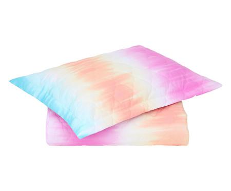 Jogo de Cobre-Leito Tie Dye Rosa - 120 Fios   WestwingNow