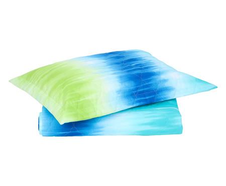Jogo de Cobre-Leito Tie Dye Azul - 120 Fios   WestwingNow