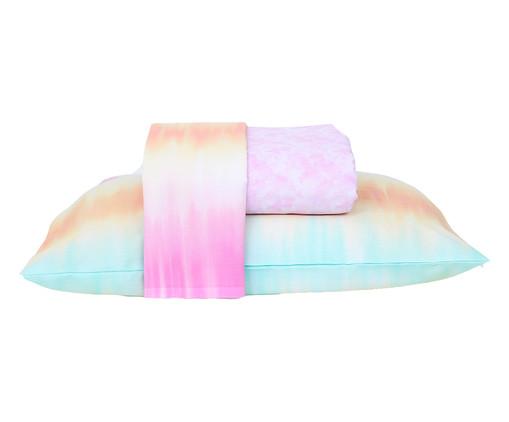 Jogo de Lençol Tie Dye Rosa - 120 Fios, Rosa | WestwingNow