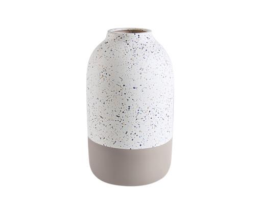 Vaso de Cerâmica Zipporah - Cinza e Branco, Cinza, Branco | WestwingNow