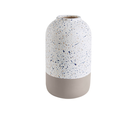 Vaso de Cerâmica Zipporah - Cinza e Branco | WestwingNow