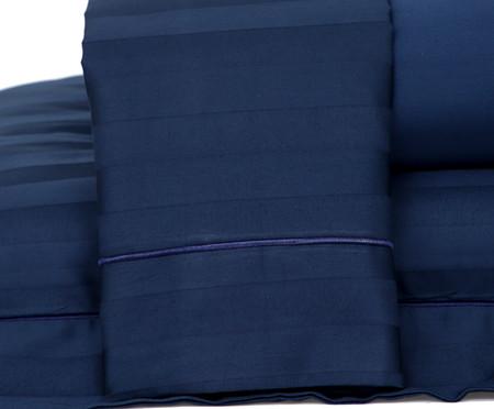 Jogo de Lençol Stripe Marinho - 260 Fios | WestwingNow